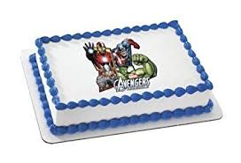 marvel cake toppers assemble marvel superheroes edible image frosting sheet