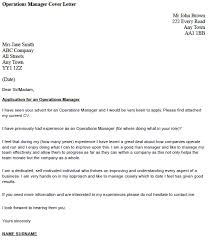 operations manager cover letter example u2013 cover letters and cv