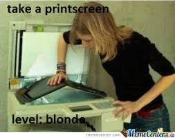 Meme Print - blonde by tars meme center