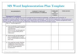 implementation plan template project implementation plan template