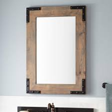 bathroom cabinets wooden bathroom mirror bonner reclaimed wood