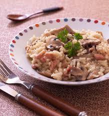 cuisiner les pleurottes risotto aux lardons pleurotes et chignons de les