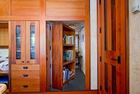 hidden closet bookshelf door home design ideas