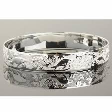 titanium bangle bracelet images Sterling silver hawaiian sea life bangle makani hawaii hawaiian jpg