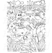 royalty free stock frog designs coloring book pages