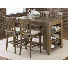Jofran Slater Mill Counter Height Dining Set In Reclaimed Pine - Counter height kitchen table with storage