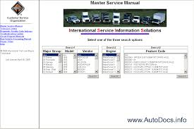 international truck isis international service information
