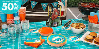 party supplies miami nfl miami dolphins party supplies party city