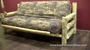 cedar lake log futon rustic sleeper sofa futon on vimeo