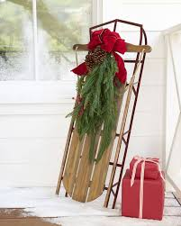 holiday hill decorative sled balsam hill