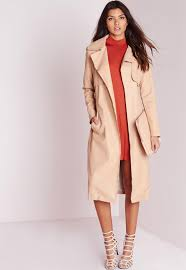 faux leather trench coat missguided