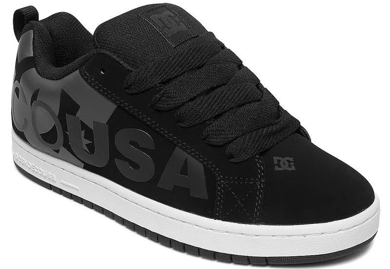 DC Court Graffik SE 300927 Black Nubuck Athletic Lace Up Skate Shoes