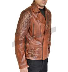 classic leather motorcycle jackets vintage quilted motorcycle brown leather jacket