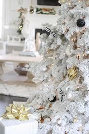 white flocked christmas tree u2014 the doctor u0027s closet holiday