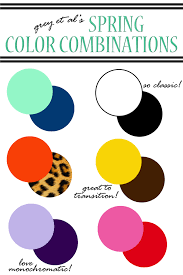 Grey Complimentary Colors Color Combinations Spring Color Combinations For Spring