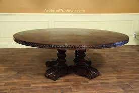 Large Rustic Dining Table Large Round Walnut Dining Table Rustic Casual Finish