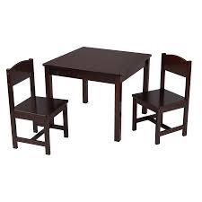kidkraft aspen table u0026 2 chair set espresso walmart com