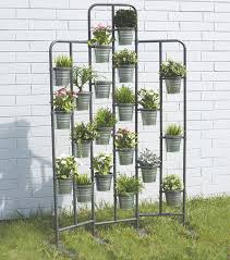 amazon com tall metal plant planter stand 20 tiers display