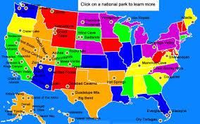 map us national parks united states national parks for
