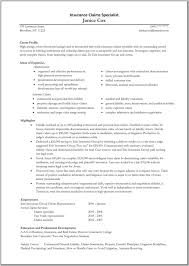 Sample Resume Objectives Property Management by Resume Underwriter Insurance Contegri Com