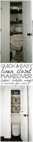 minimalist what is the best way to organize a linen closet