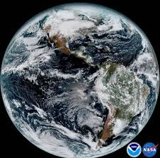 satellite view of the americas on earth day nasa