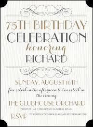 birthday invitation wording 75th birthday invitation wording sles 75th birthday invitations