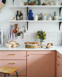 50s Kitchen Cabinet 12 Pink Kitchens That Knock It Out Of The Park Pink Cabinets And