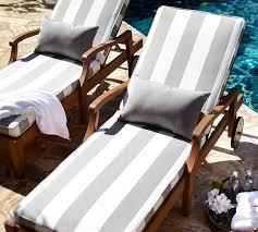 Sunbrella Chaise Cushions Clearance Sunbrella Piped Outdoor Chaise Cushion Stripe Pottery Barn