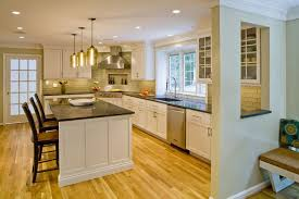 white kitchen cabinets with oak floors design solution for busy family