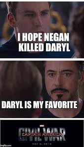 Daryl Meme - marvel civil war 1 meme imgflip