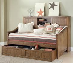 Wood Furniture Design Bed 2015 Dark Gray Stained Wooden Bed With Rundle And Shelving Unit Using