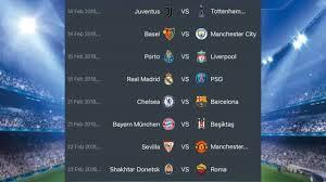 Jadwal Liga Chion Jadwal 16 Besar Liga Chions 2017 2018 Leg 1 Vidio