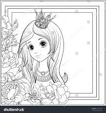 young nice princess crown garden stock vector 559014802