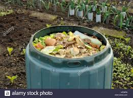 compost cuisine garden compost bin for recycling kitchen food and garden waste stock