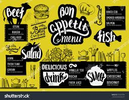 food menu restaurant cafe design template stock vector 573637978