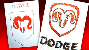 logo dodge how to draw dodge logo auto logo car youtube