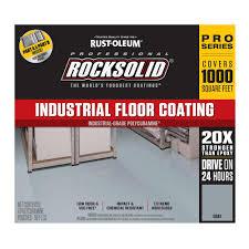 Rock Solid Garage Floor Reviews by Rust Oleum Rocksolid 360 Oz Gray Polycuramine Industrial Floor
