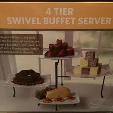 find more 4 tier swivel buffet server new includes rod iron rack
