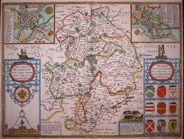 The Shire Map John Speed The Counti Of Warwick The Shire Towne And Citie Of