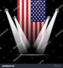Flag Lights Spot Lights American Flag Background Stock Vector 375842680