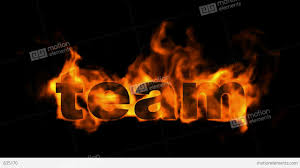 team fire business key words stock animation 835170