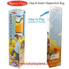 melissa u0026 doug hop and count hopscotch rug