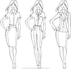 fashion model sketch silhouette vector draw model vector fashion