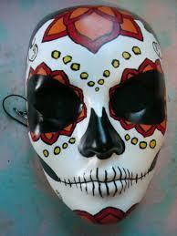sugar skull masks cool idea for rocks rock painting pinterest