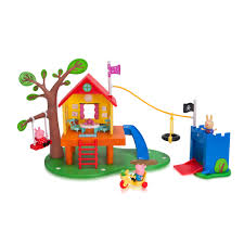 peppa pig u0027s treehouse and george u0027s fort playset toys