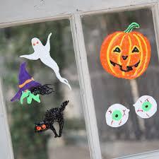 haunted halloween window clings ilovetocreate