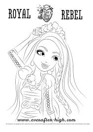 holly o u0027hair coloring page ever after high
