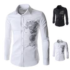 fashion trends collar long sleeves single pocket dress shirts for