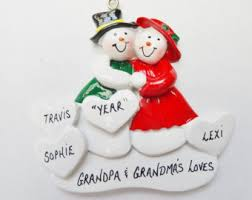 grandparent ornaments personalized grandparent ornament etsy